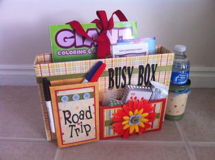 Utah's Crafty Chick: Kids Road Trip Busy Box