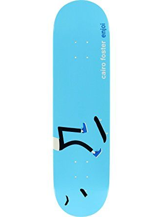 "Enjoi Skateboards Cairo Foster Enjoi x Jim Houser Skateboard Deck - 8"" x 31.7"" ❤ Enjoi Skateboards"