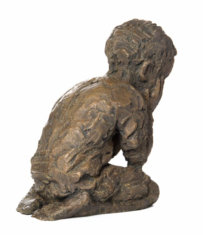 An original work by Toby Megaw entitled: The Thinker, bronze, h 44cm. For more please visit www.finearts.co.za