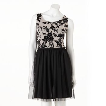 LC Lauren Conrad Floral Mixed-Media Dress - Women's