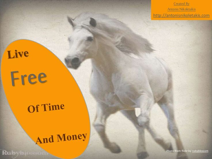 Live free of time and money