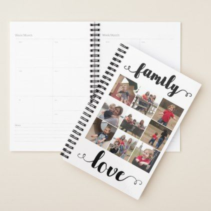 family love add your photo collage planner planners