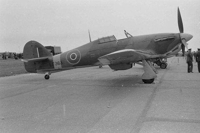 LF363 Hurricane IIC, BBMF, probably early sixties: