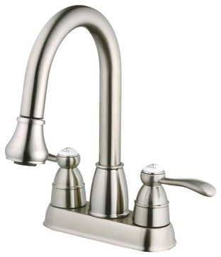 $209!! ouch! Belle Foret N600 01 SS Pull Down Spray Laundry Faucet in Stainless Steel traditional-utility-sink-faucets