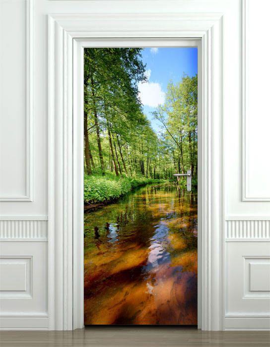 25 best ideas about door murals on pinterest door for Door wallpaper mural