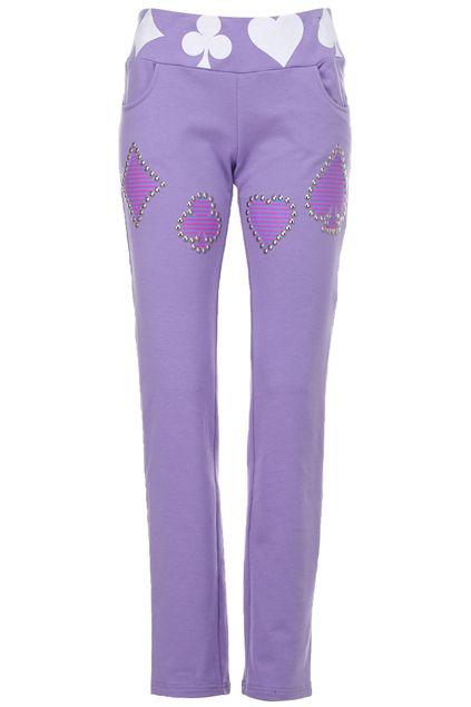 ROMWE | Pink Poker Pattern Pants, The Latest Street Fashion #ROMWEROCOCO