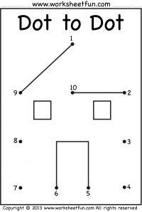 Preschool – Dot to Dot – Worksheets