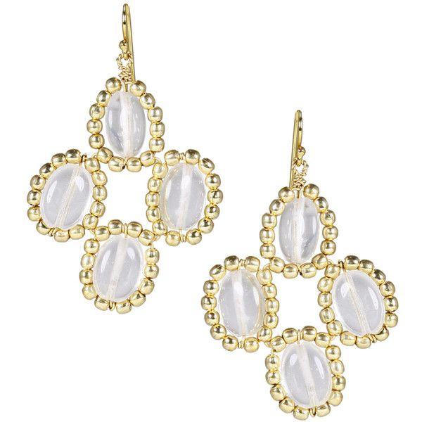 Quinn Clear ($68) ❤ liked on Polyvore featuring jewelry, earrings, clear earrings, clear crystal earrings, clear jewelry, clear crystal jewelry and earring jewelry