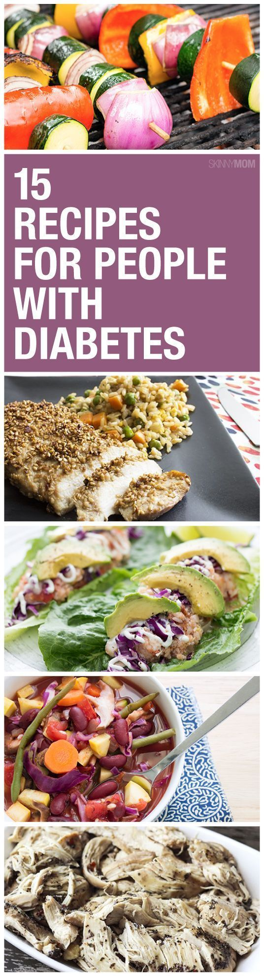 These recipes are not only healthy and diabetic friendly, but they actually taste good, too! #DiabetesDiet #DiabetesCureHealthy