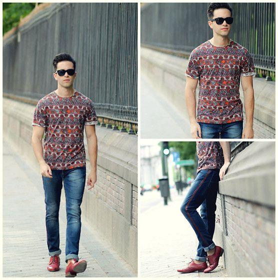 Topman Tshirt, Zara Jeans, Uterque Men Shoes