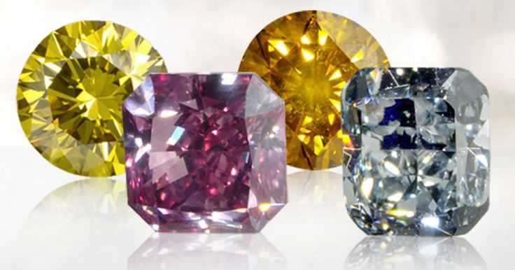Selain berlian dengan warna bening jernih, ternyata ada juga berlian yang memiliki warna indah  kemilau. Dari mana asal warna pada berlian tersebut?