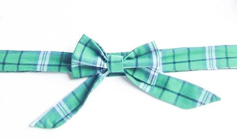 Green Plaid - Handmade Sailor Tie