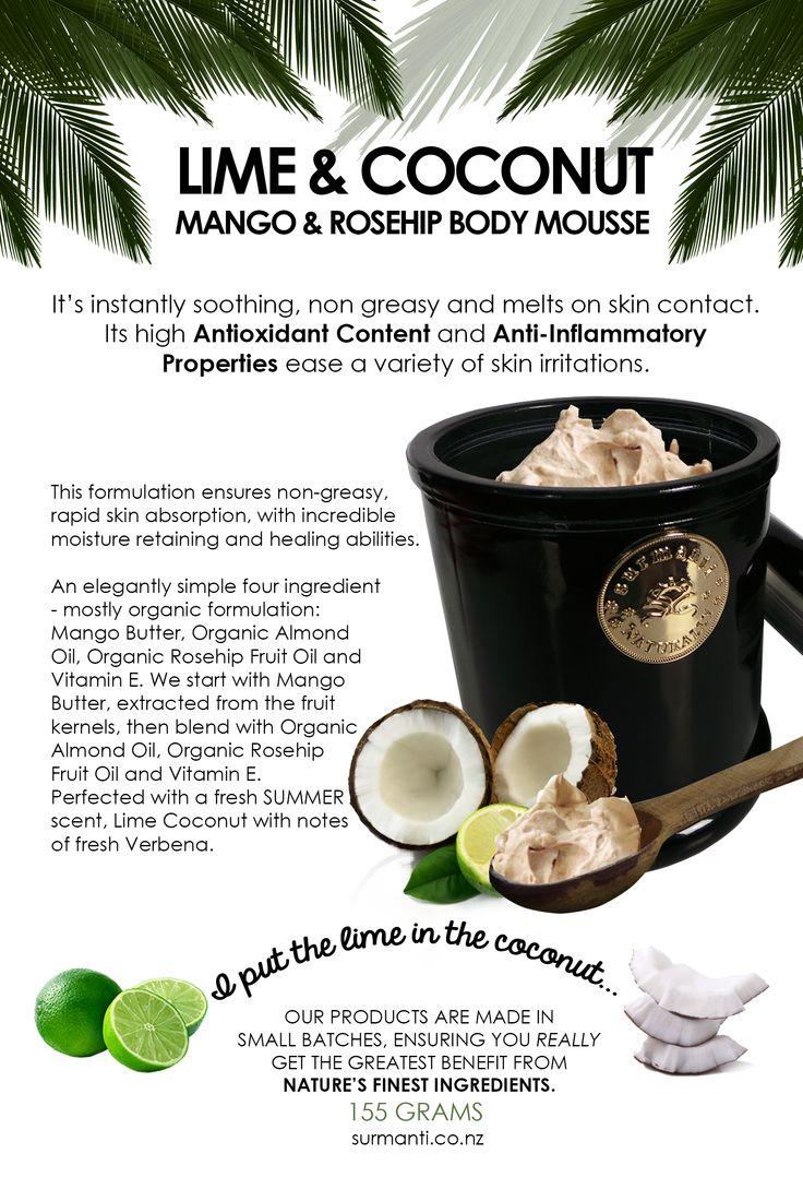 Surmanti Mango & Rosehip Mousse - Lime & Coconut