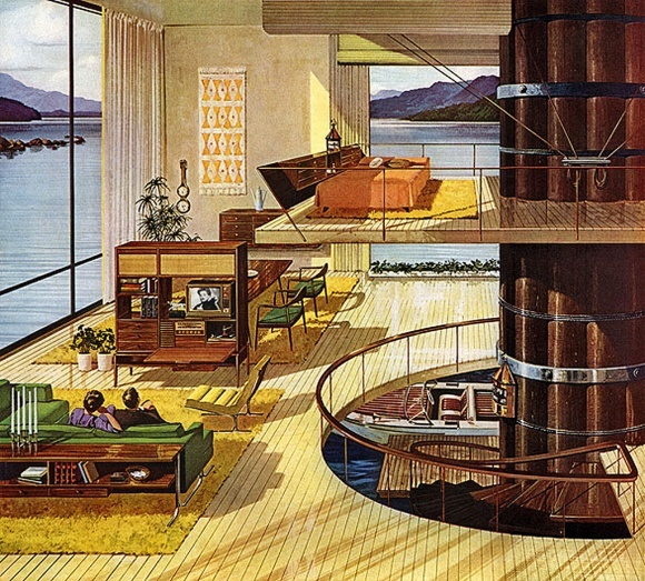 The future of homes...  Motorola ad, 1961New House, Lakes House, Dreams Home, Dreams House, Vintage Modern, Products Design, Mid Century Home, Midcentury, Mid Century Mod