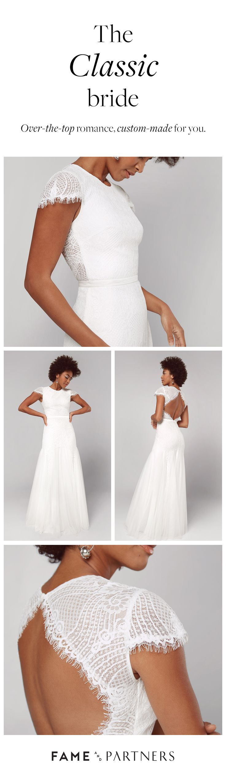 Non-traditional? Go bespoke. Do you on your wedding day in unexpected bridal from The Bespoke Bridal Collection.