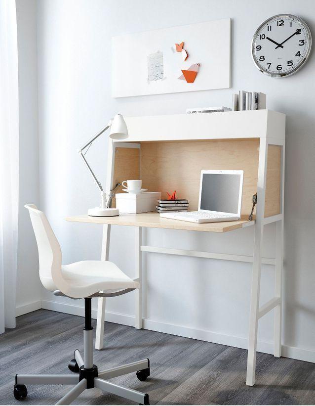 Les Plus Beaux Bureaux Ikea Pas Chers Et Tendance A Shopper Elle Decoration Petit Bureau Design Deco Fait Maison Ikea