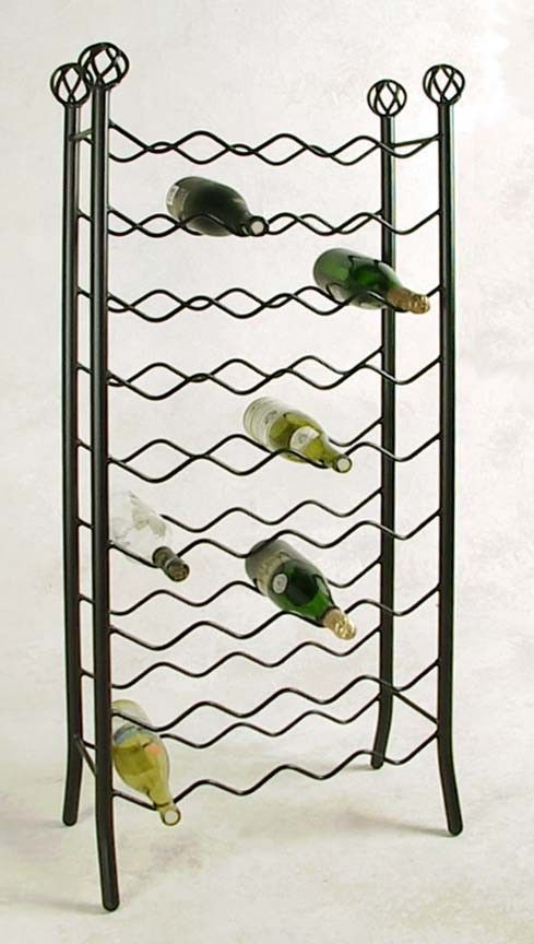 25 best images about wrought iron wine rack on pinterest - Wine racks wrought iron floor standing ...