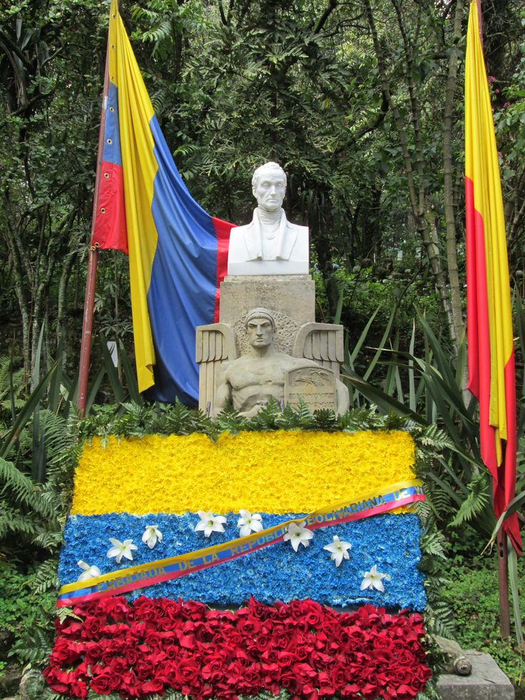 Ofrenda Floral de Venezuela en Honor al Natalicio de Simon Bolivar 24 de Julio 2012 Quinta de Bolivar-Bogota