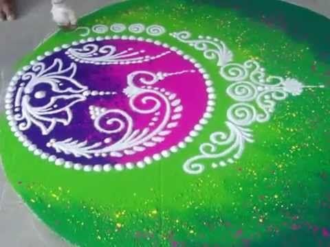 Wedding Rangoli Design Diwali Rangoli How to draw Sanskar Bharati Rangoli - YouTube