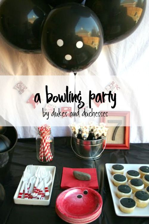A bowling party with simple DIY details is a great birthday party for kids!
