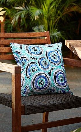 Add a playful touch to your patio set with the CANVAS Fiesta Patio Toss Cushion