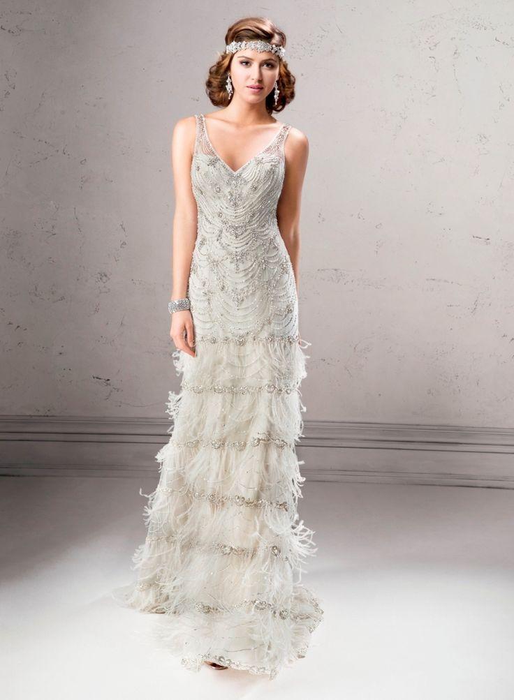 Платье в стиле 20-х с бахромой длинное