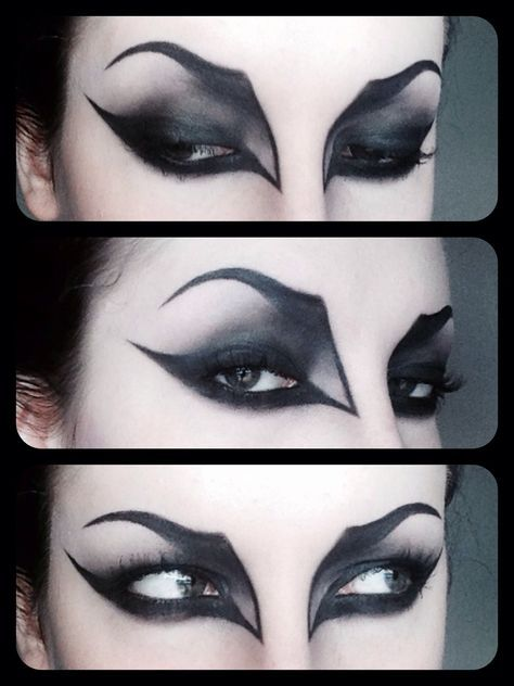 Maquillaje de ojos gótico/vampiresa