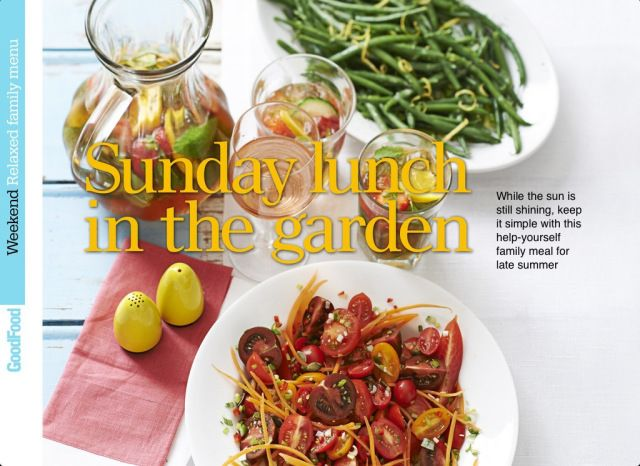 Good Food Magazine 'Sunday Lunch in the Garden' concept #honeyandthyme @Honey Thyme Herb Farm