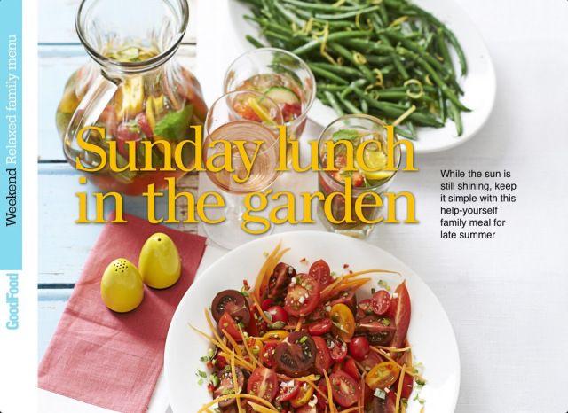 Good Food Magazine 'Sunday Lunch in the Garden' concept #honeyandthyme @Honey Thyme Herb Farm