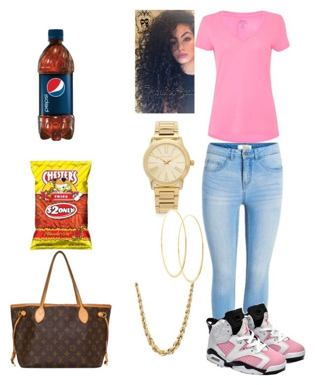 """Untitled #5"" by queenquanna1108 on Polyvore featuring Polo Ralph Lauren, Retrò, Michael Kors, Lana and Louis Vuitton"