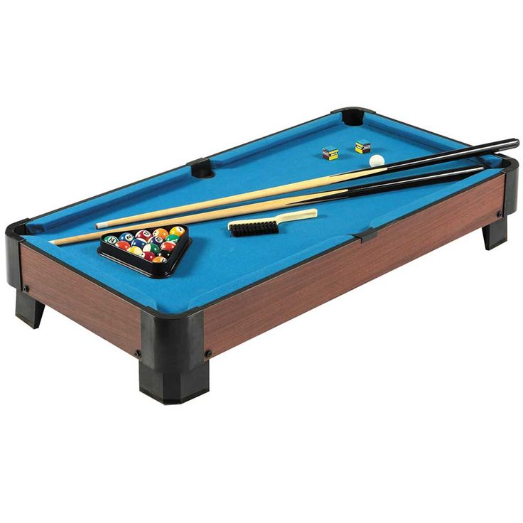 Compact size, big enough for a challenging game of pool