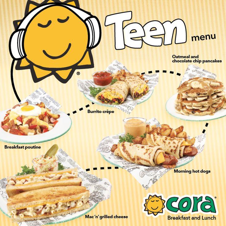 Nouveau menu ado dans tous les restaurants Cora! / New Teen Menu in all Cora restaurants! www.chezcora.com