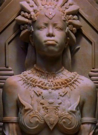 "Akasha, ""The Queen of the Damned"", from the film - played beautifully by Aaliyah (R.I.P.) - Anne Rice"