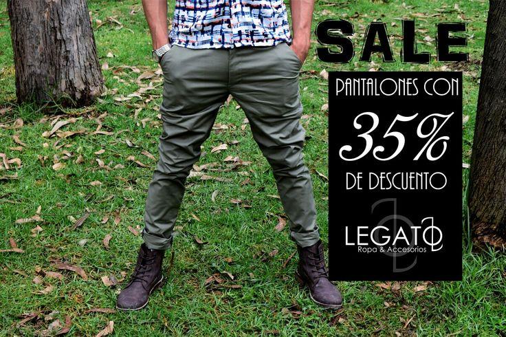 Todos nuestros pantalones con el 35% de descuento!!!  Promo válida hasta el 20 de marzo!!!  #sale #promociones #menswear #pantalones #hechoencolombia