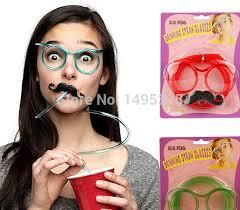 Buy Moustache drinking straw glasses (pink, red, green and blue) for R20.00