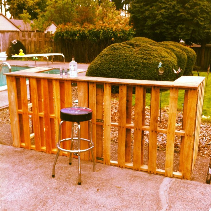 Man Cave Bar Out Of Pallets : Diy bar made from pallets man cave pallet magic