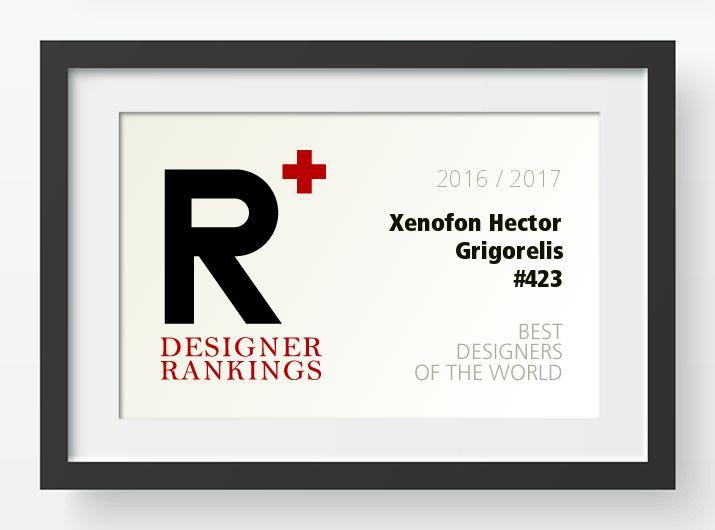 A' Design Award and Competition - xenofon hector grigorelis Designer Ranking Standing