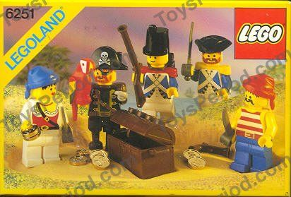 LEGO 6251 Pirate Minifigures Image 1
