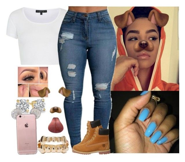 """Top"" by saucinonyou999 ❤ liked on Polyvore featuring Topshop and Timberland"