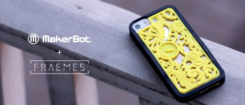 MakerBot added personalized phone case maker Fraemes' app to its developer program. Fraemes allows designers to sell unique 3D printed iPhone case creations through its platform and also lets users have cases tailor made. The new partnership will ensure a seamless integration of the Frames app with a MakerBot Replicator desktop 3D printer. Don't have a printer? Not to worry. MakerBot is also providing a custom-made Fraeme service for customers at its retail stores.