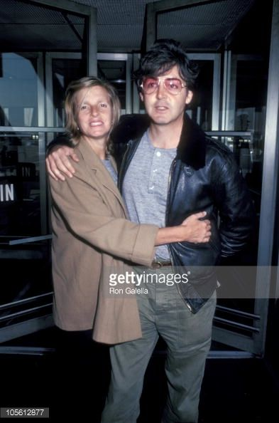 Linda and Paul McCartney at JFK Airport October 28 1982 at Kennedy Airport in New York...