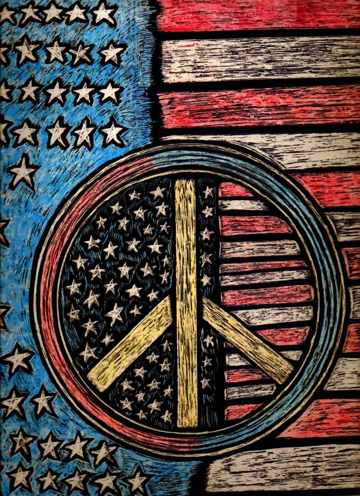 PEACE ~ RED, WHITE & BLUE