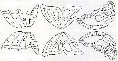 Patterns for making icing butterflies from http://www.sugarcraft.com                                                                                                                                                                                 More