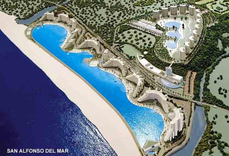 Chile - San Alfonso Del Mar: Guinness Book's 'World's Largest Swimming Pool' at 2/3 of a mile in length.