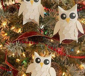 Snow Owl Christmas Ornaments