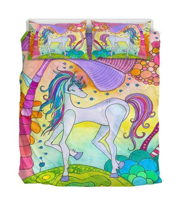 Unicorn Bedding! he unicorn, combining aspects of spirit and nature, calls on us to use our imaginations to bring about transformation in the world.