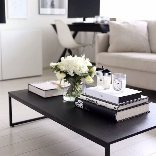 Coffe Table Styling   19 Coffee Table Styling Ideas To Steal Stick To  Monochromatic