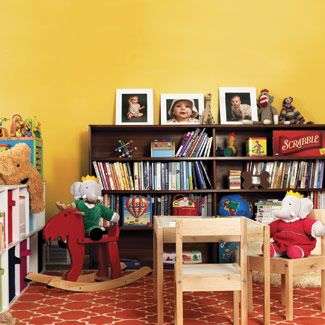 For this basement renovation, a bright matte paint was used to brighten the space and disguise imperfections.