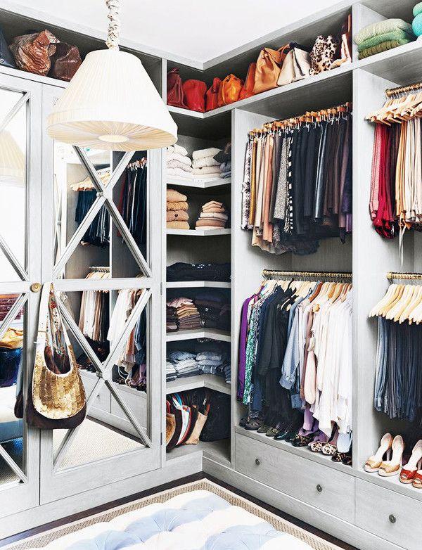 Les 25 meilleures id es concernant rangement sac main sur pinterest diy r - Idee dressing petit espace ...