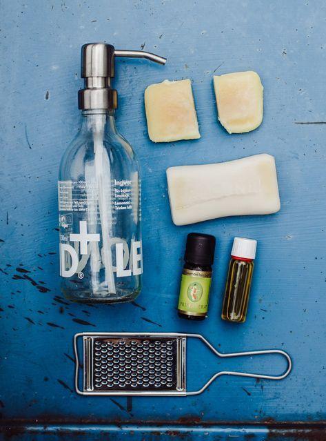 Flüssigseife aus Seifenresten selbst herstellen – Geschenke